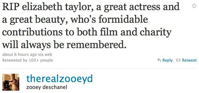 Celebs Remember Elizabeth Taylor On Twitter