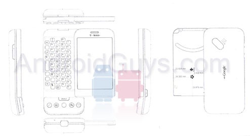 HTC Dream Engineering Drawings Reveal its Skinniness, Big Chin