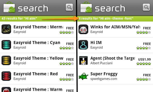 Use Search Operators in the Android Market for More Useful Search Results