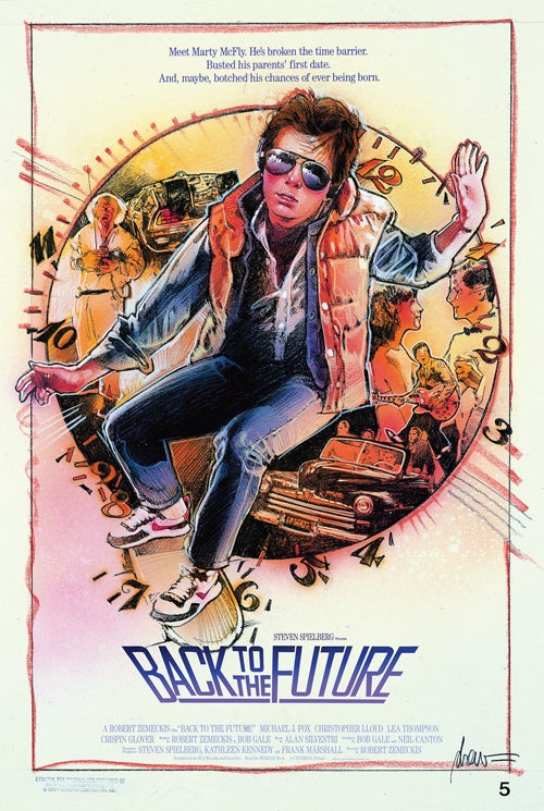 Drew Struzan's amazing poster art for Back To The Future and more!