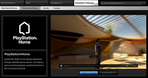 PlayStation Home's Home On The Web