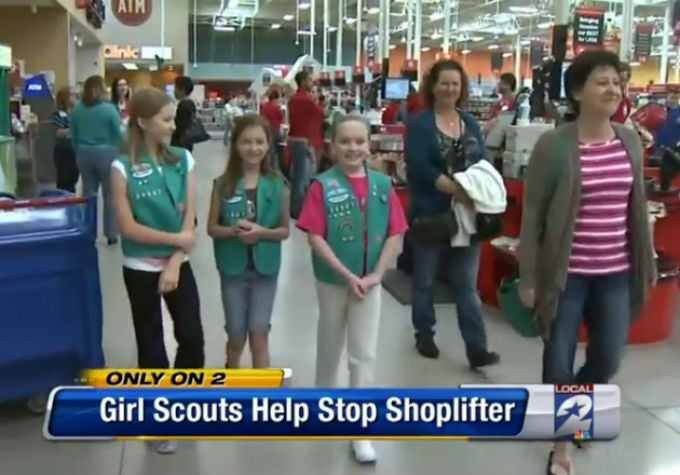 Texas Girl Scouts Use Power of Thin Mints to Defeat Evil Shoplifters