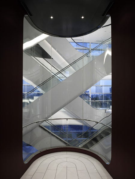 10-Storey Spiral Stairs Made with Escalators
