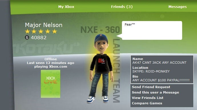 Xbox Live Director's Account Hacked! (Are You Next?)