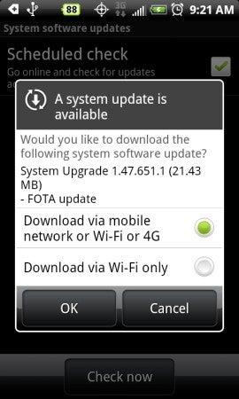 HTC EVO 4G Receives OTA Update 1.47.651.1 (For Improving Wi-Fi?)