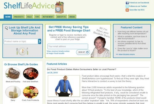 ShelfLifeAdvice Dishes the Dirt on Food Shelf Life
