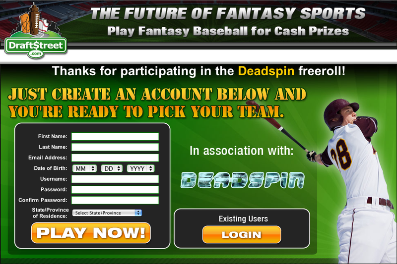 Play the Free Draftstreet Baseball Contest Tonight and Win Up To $500