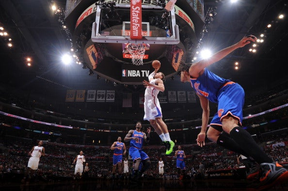 A Baseline's-Eye View Of Blake Griffin Dunking All Over The Knicks