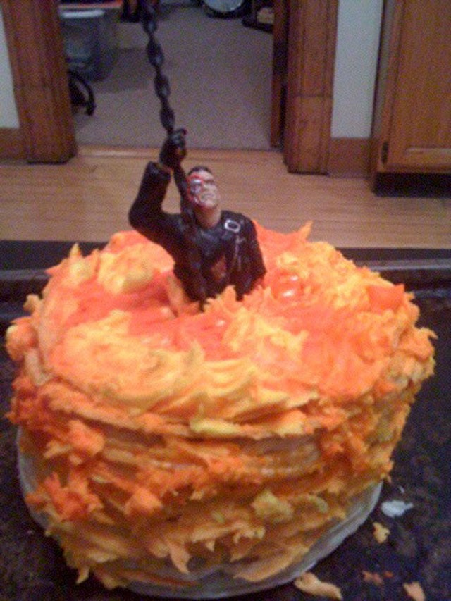 This Terminator 2 Cake Is Perfect For Almost No Occasions
