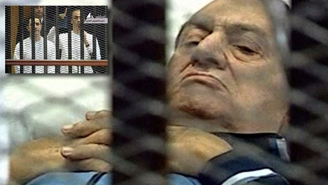 Hosni Mubarak Goes for a Sporty Bedridden Look
