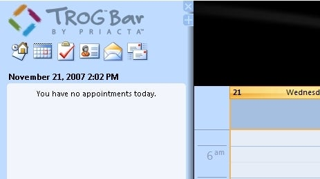 Manage Outlook in a GTD-Friendly Sidebar with Trog Bar