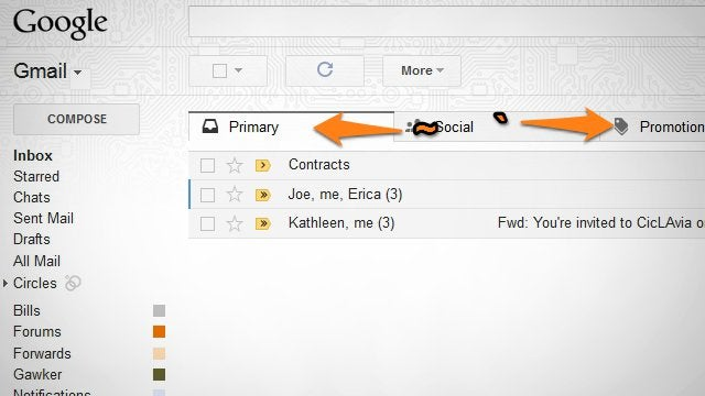 Move Between Gmail's New Tabs with Keyboard Shortcuts