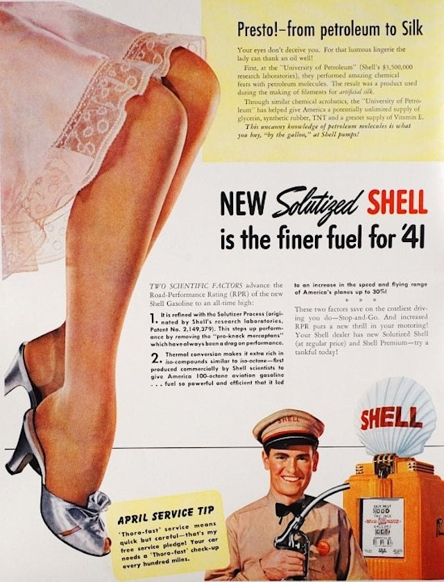 Glorious Gasoline Ads from the Dieselpunk Days