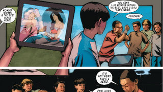 "Cute scene from ""Sensation Comics featuring Wonder Woman"" #3"
