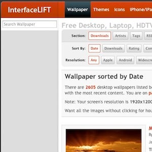 Five Best Wallpaper Sites