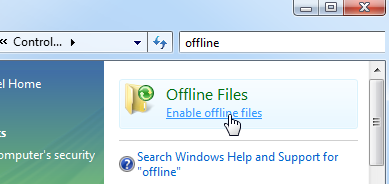 Use Windows Vista's Offline Files to Access Documents Offline