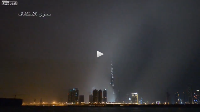 VIDEO: Dubai's Skyline Disappears Behind Massive Thunderstorm