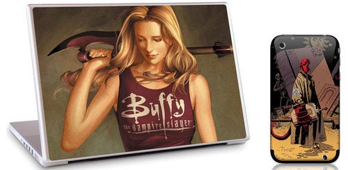 Buffy and Hellboy Skins on Apple Products, Dual-Fanboys Ascend to Nirvana