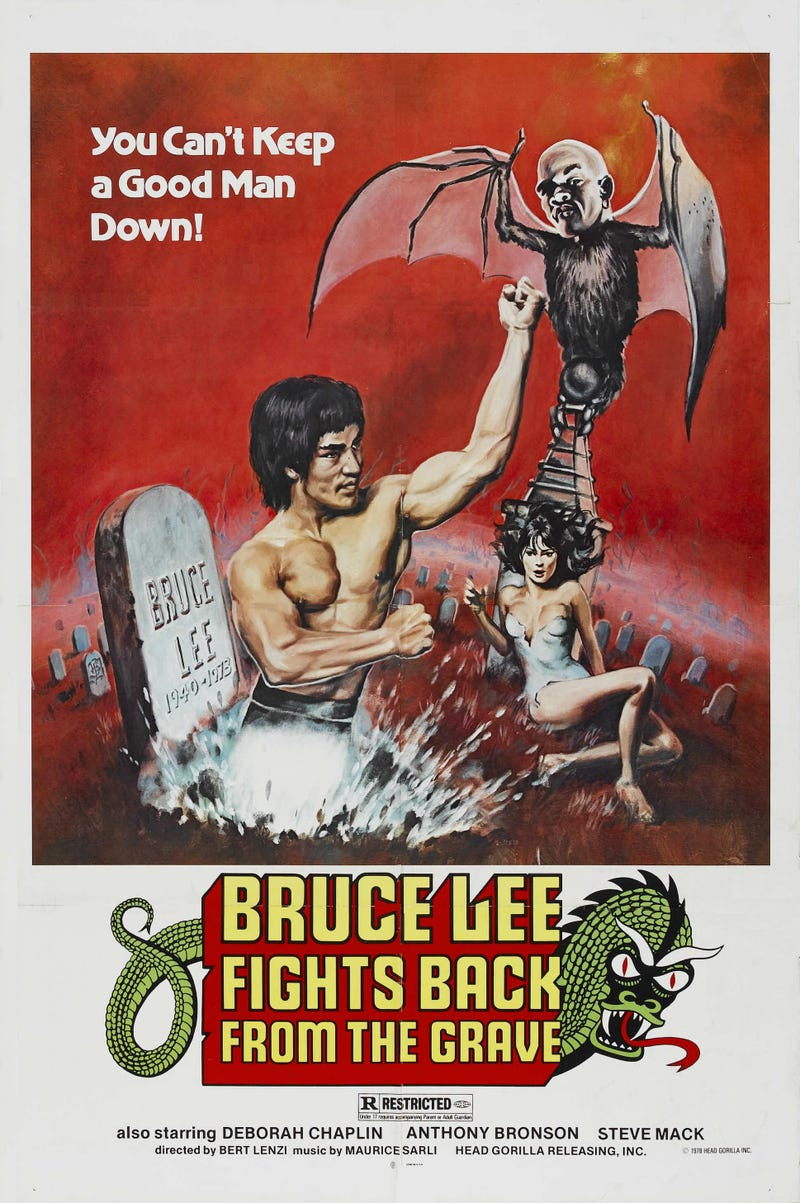 Insane 1977 movie sent Bruce Lee to Hell to meet Popeye, Dracula, and James Bond
