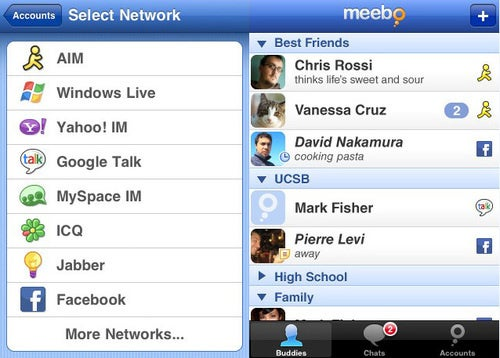 Best Mobile Instant Messaging Application: Meebo