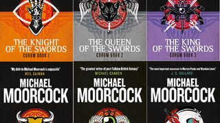 The Eternal Warrior rises again: Titan Books has created some totally gorgeous reissues of Michael Moorcock's Corum book series, with some striking cover images. [via SFSignal]