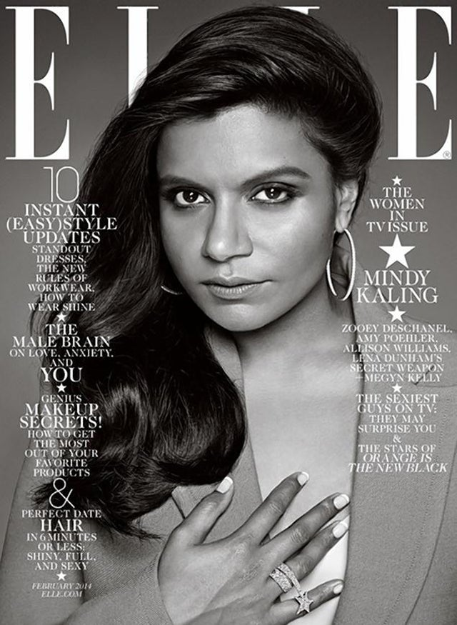 Elle Editor Explains Why Mindy Kaling's Cover Was Black and White