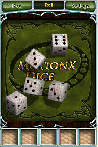 MotionX Dice Contains Realistic Dice Physics, Is Free