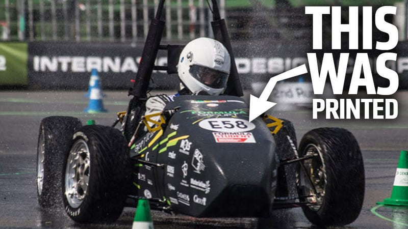 First 3D-Printed Racecar Is Real And Real Fast