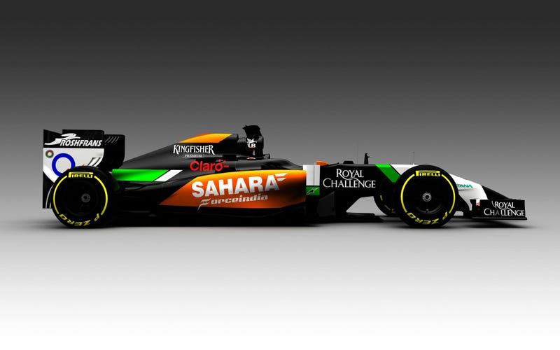 This is the 2014 Force India.
