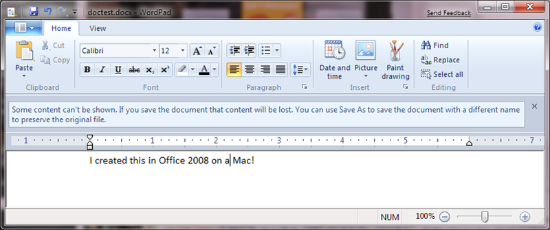 Win 7 Tip: WordPad Opens Word 2007 Docs