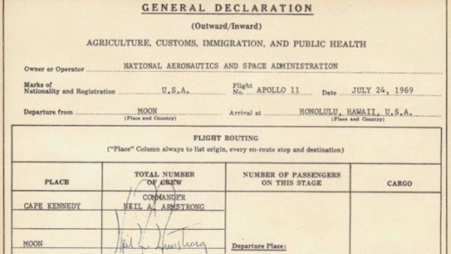 When Returning from the Moon, Don't Forget to Fill Out Your Customs Form