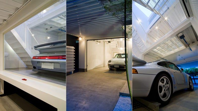 Japanese Porsche Fan Commissions the World's Most Elegant Garage
