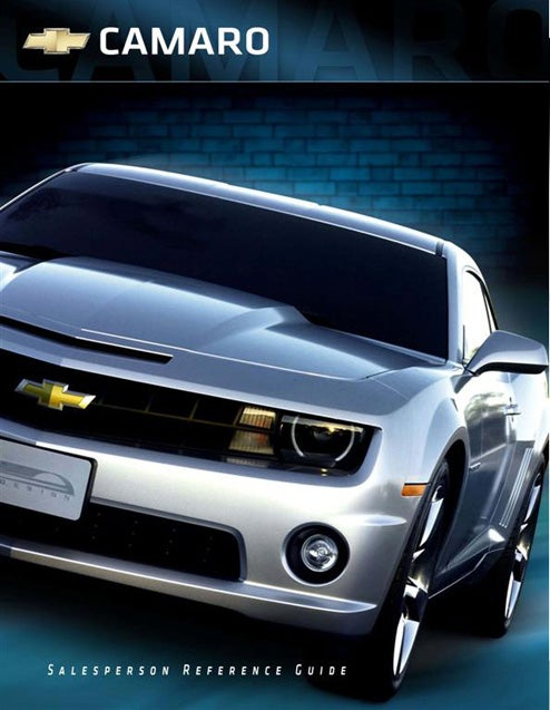 2010 Chevy Camaro Sales Reference Guide Proves GM Hasn't Fired Marketing Department