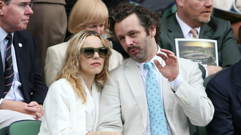 Rachel McAdams And Michael Sheen Wear White And Discuss Aerodynamics