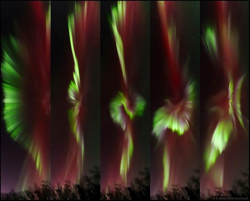 Aurorae ignite the skies over Fairbanks, AK