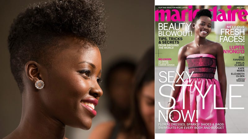 Lupita Nyong'o Celebrates Gorgeous New Marie Claire Cover