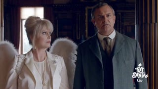 George Clooney Makes Maggie Smith Swoon off the Couch in<i>Downton</i>Short