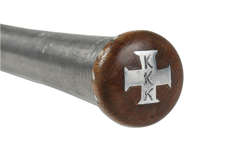 This Is One Gorgeous KKK Baseball Bat, But It's Still A KKK Baseball Bat