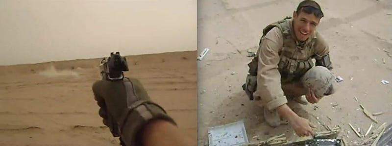 Marine Firing Squad Shoots Up Xbox 360