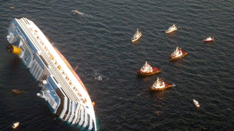 Human Remains Found Onboard Shipwrecked Costa Concordia