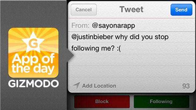 Sayonara: Get Notified When Jerks Unfollow You on Twitter