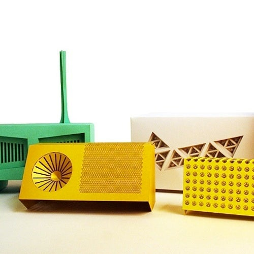 Laser-Cut, RFID-Equipped Paper Radios Tell Your Speakers What to Play
