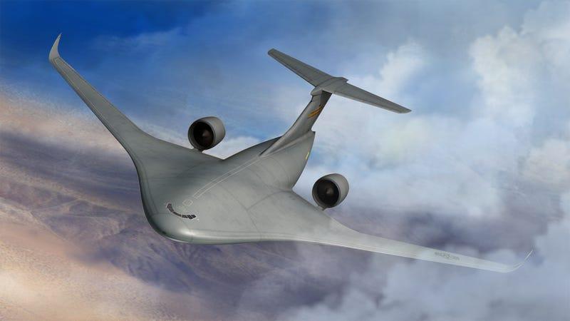 Lockheed Moves Foward With Big Blended Wing Hybrid Transport Jet Design