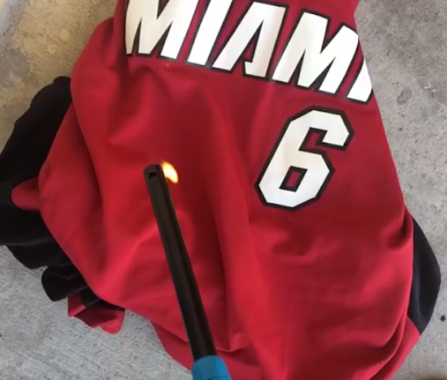 This Is The Best Heat-Fan-Burns-LeBron-Jersey Video