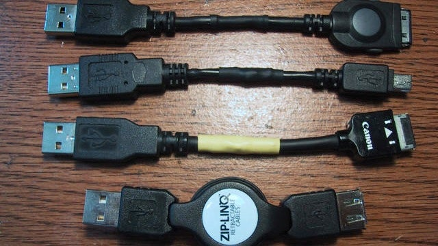 Save Space in Your Backpack with DIY Mini USB Cables