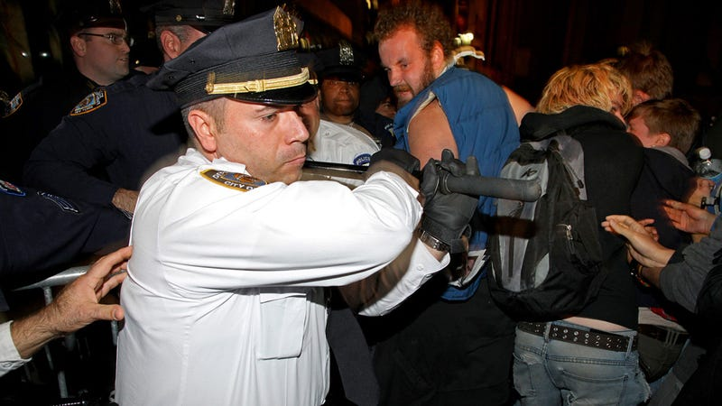Here's Video of a Senior NYPD Officer Beating Protesters With His Club
