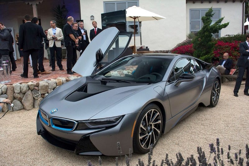 A one-off BMW i8 sold for a record $825k at Concours d'elegance