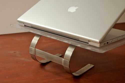 Paper towel holder laptop stand