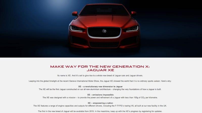 Jaguar's New Small Sedan Might Get Throbbing F-Type Power