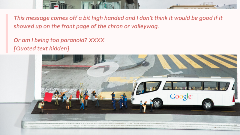 Leaked Memo: Google Tells Employees What To Think About Private Buses